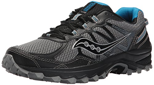Saucony Men's Excursion TR11 Running Shoe, Black/Blue, 8 Medium US