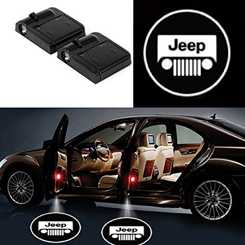 Jeep Magnets - bearfire 2 Pcs Wireless Car Door Led Welcome Laser Projector Logo Light Ghost Shadow Light Lamp Logos (Jeep)