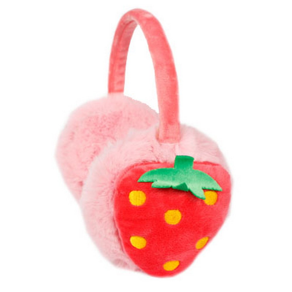 Funny Strawburry Plush Earmuff for Kids PS-CLO2474962011-EMILY01446