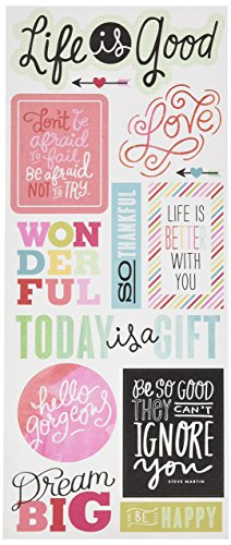 Me & My Big Ideas Sayings Stickers, Life is Good