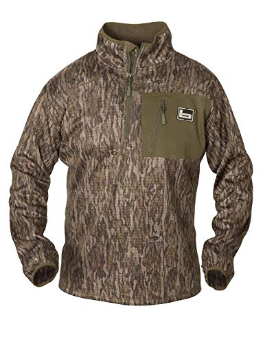 Banded 1/4 Zip Mid Layer Fleece Pullover-Bottomland-Large