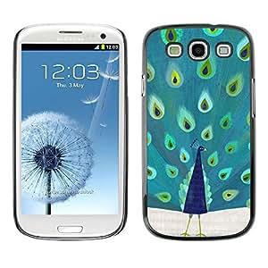 For SAMSUNG Galaxy S3 III / i9300 / i747 Case , Feathers Bird Africa Majestic - Diseño Patrón Teléfono Caso Cubierta Case Bumper Duro Protección Case Cover Funda