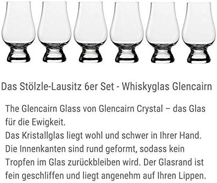 Vasos de whisky Glencairn de 190 ml Stölzle Lausitz, juego de seis, compatibles con lavavajillas, ideales como regalo