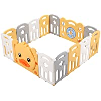 14 Panel Toddler Folding Playpen Child Baby Play Yard Indoor Playground Safe Activity Centre
