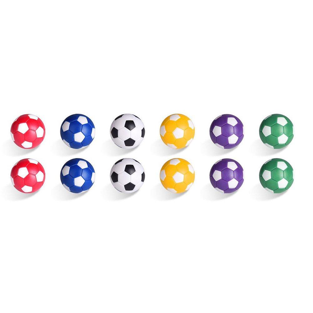 LIOOBO 6 St/ücke Kickerb/älle Tischfu/ßball Kugeln Foosballs Ersatzkugeln Mini Tabletop Fu/ßball Spielb/älle