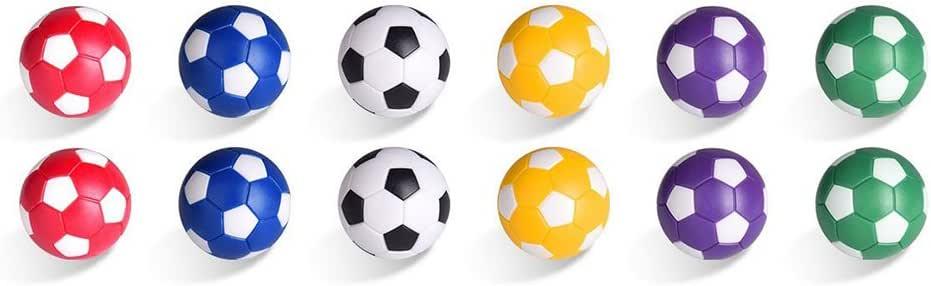 STOBOK 12 Piezas de fútbol de Mesa futbolín Bolas de reemplazo Mini Colorido Juego de Mesa Oficial Juego de Accesorios: Amazon.es: Juguetes y juegos