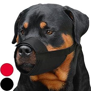 CollarDirect Adjustable Dog Muzzle Small Medium Large Dogs Set 2PCS Soft Breathable Nylon Mask Safety Dog Mouth Cover Anti Biting Barking Pet Muzzles Dogs Black Red 8