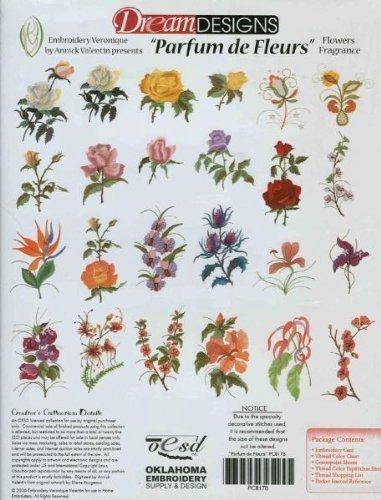 Bernina Artista Embroidery Machine Card PARFUM DE FLEUR