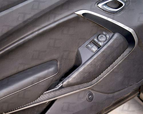 Camaro Carbon Fiber Door Trim Accent Decal kit (2016-2018) (Black Carbon Fiber)