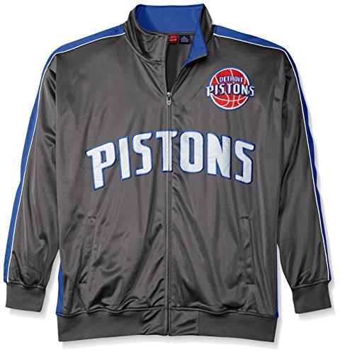 - NBA Detroit Pistons Men's Reflective Track Jacket, 3X/Tall, Charcoal/Royal