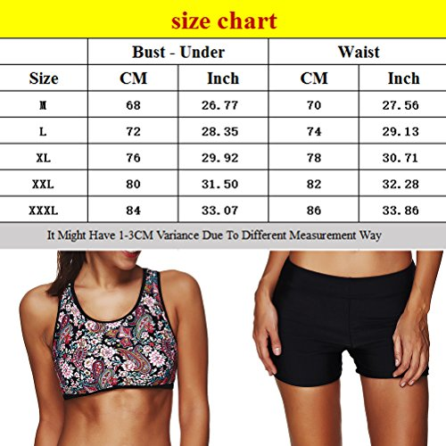 Zhhlinyuan Two Piece Halter natación Swimsuit Women Bikini Set High Waisted Swimwear Multicolor