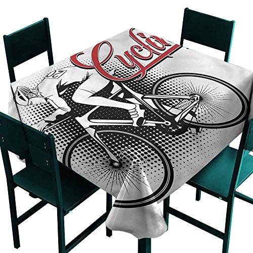 DONEECKL Easy Care Tablecloth Sports Cycling Man Sport Bike Indoor Outdoor Camping Picnic W50 xL50