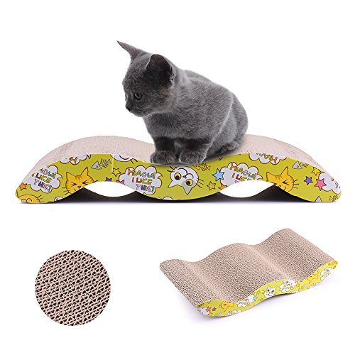 Cheap TAONMEISU Pet Cat Scratcher Cardboard Kitten Couch Cat Scratching Pad  Protect Your Furniture Getting Damaged