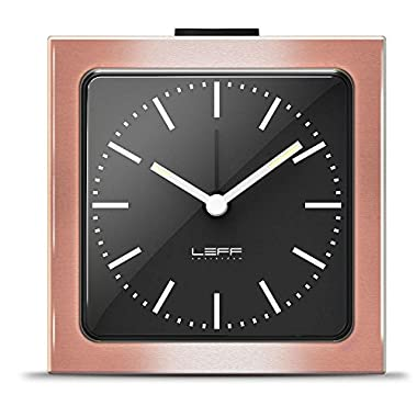alarm clock block copper black index