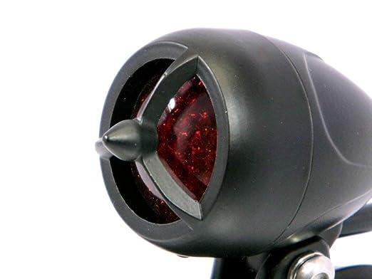 Nero Siluro Stile Post LED Luce Stop Posteriore Progetto di Personalizzazione Moto