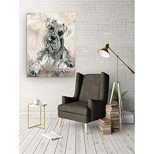 'Sketchy Study Schnauzer' Canvas Premium Gallery-Wrapped Wall Art