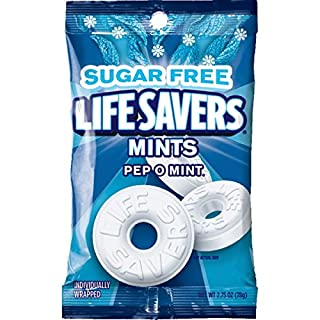 Life Savers Pep O Mint Sugar Free Candy Bag, 2.75 Ounce (Pack of 12)