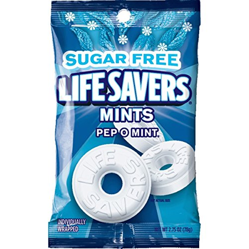 Life Savers Pep O Mint Sugar Free Candy Bag, 2.75 ounce (Pack of 12) ()