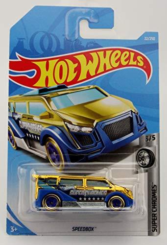 - Hot Wheels 2019 Basic Vehicle Super Chromes: Speedbox (Gold/Blue) - Int. Card