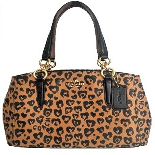 Coach Christie Carryall in Crossgrain Leather - Coach Animal Print