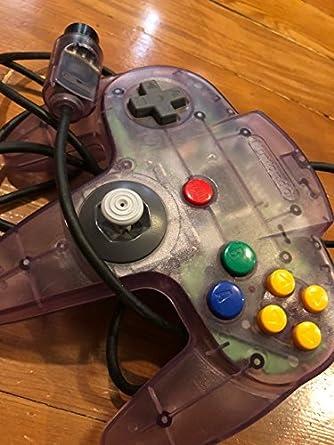 amazon com nintendo 64 controller atomic purple video games