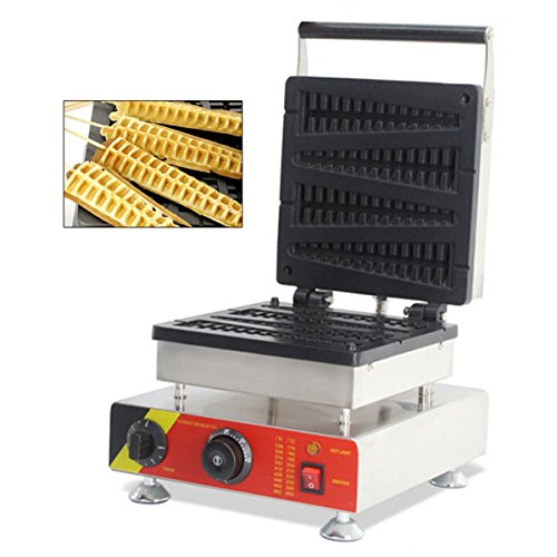 Cgoldenwall Np-5014pcs Commercial Waffle grille-pain gaufrier No-stick Waffle Baker machine à Gaufres gaufrier machine (Lolly) 110V/220V Certification CE