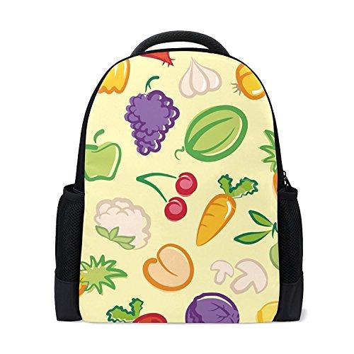 Lucys Bowl (Ethel Ernest Vegetables Fruit Salad Bowl Custom Casual Backpack School Bag Travel Backpack Lucy Curme)