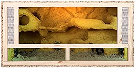 Terrario: Madera Terrario para Reptiles frontal ventilación para serpientes y lagartos 100 x 50 x 50 cm alta calidad Terrario Madera de OSB - Front Vent