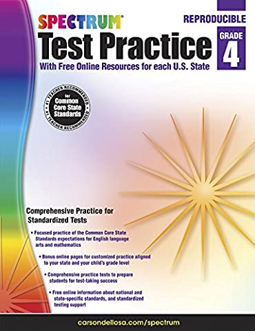 Spectrum Test Practice, Grade 4 (Spectrum Grade 5 Test Prep)