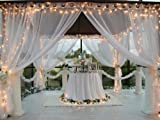 "Patio Pizazz Indoor/Outdoor Beautiful Sheer Wedding Drapes (Each panel 54"" x 108"")"