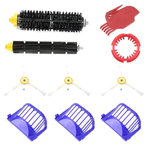 Shentesel 10Pcs Brushes Filters Replacement Parts for iRobot Roomba 620 630 650 660 Series
