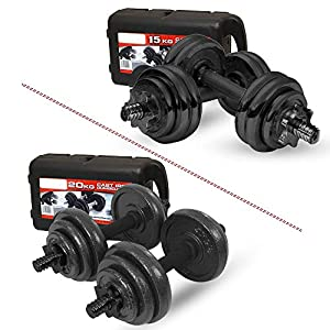 Well-Being-Matters 51m7Zve%2Bj-L._SS300_ XN8 Adjustable Dumbbells Set 33lbs & 44lbs Hand Weight Dumbbell Weight Lifting Barbell Bench Press Exercise Fitness…