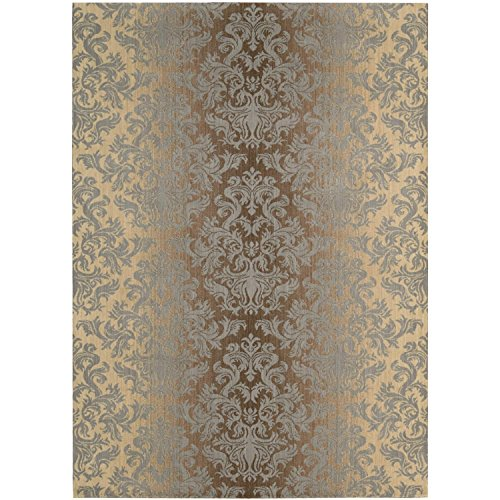 13' Mocha Area Rug - Nourison Riviera (RI06) Mocha Beige Rectangle Area Rug, 9-Feet 6-Inches by 13-Feet  (9'6