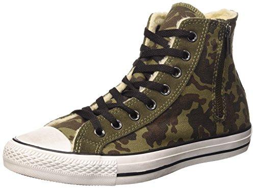 Converse Herren A/S Hi Side Zip Canv Sue Shear mehrfarbig (Green/Chocolate Cm)