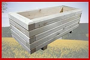 macizo Maceta de madera 100x 60x 36cm 60x 60mm barnizado con barniz para madera incoloro