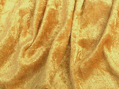 Velvet Crushed Panne Velour Backdrop Stretch Fabric (Mustard - Velvet Gold Cloth