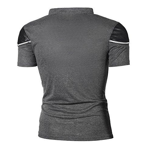 69a2d118ed062 Amazon.com  YKARITIANNA Fashion Personality Men s Casual Slim Patchwork  Short Sleeve T Shirt Top Blouse  Arts
