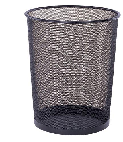 Organize It All Round 14-Inch Tall Wastebasket, Black