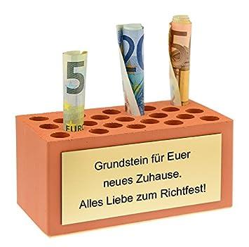 Amazon De Geldgeschenk Grundstein Zum Hausbau Einzug Richtfest