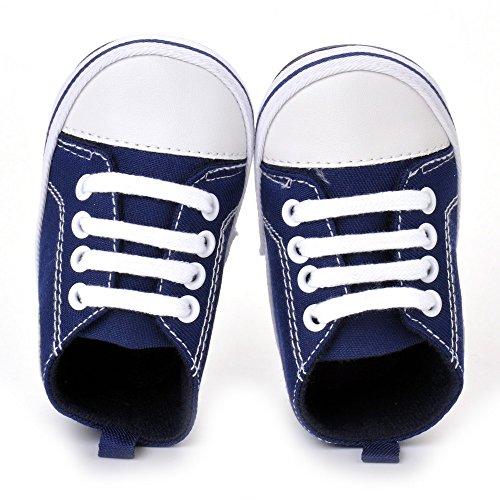 estamico infantil unisex de bebé Lienzo Sneaker Zapatos de bebé rojo rosso Talla:12-18 meses NavyBlue