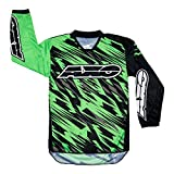 AXO Prodigy Junior Jersey (Black/Fluorescent Green, X-Large)