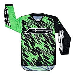AXO Prodigy Junior Jersey (Black/Fluorescent Green, Small)