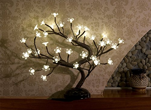 LIGHTSHARE 16Inch 36LED Cherry Blossom Bonsai Light, Warm White,Battery Powered and Plug-in DC Adapter (Included),Built… 2