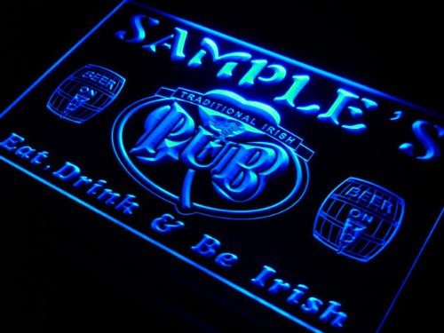 pa1107-b Woods Irish Shamrock Home Pub Bar Beer Neon Light Sign by AdvPro Name (Image #1)