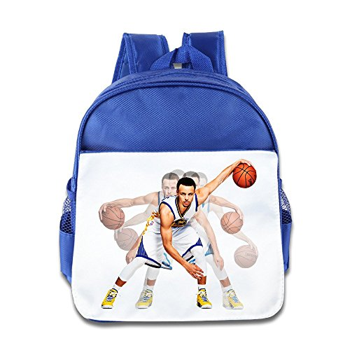 Price comparison product image Jade Custom Superb Stephen 30 Curry Basketball PLAYER Kids School Bag Backpack For 1-6 Years Old RoyalBlue