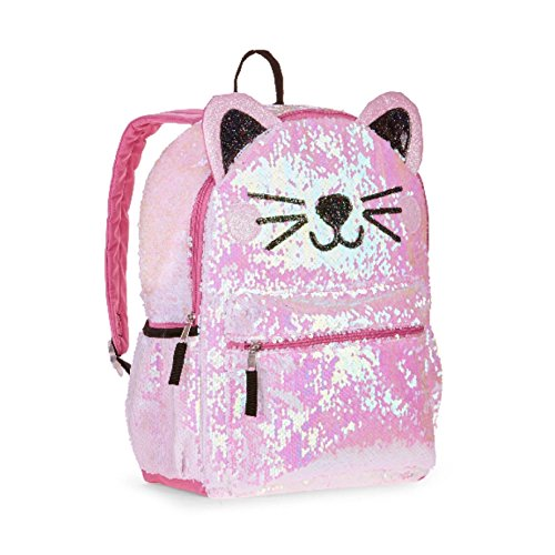 Wonder Nation Kitty Cat 2 Way Sequin Critter Backpack -