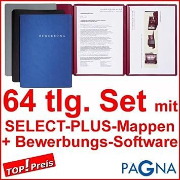 20 dreiteilige Bewerbungsmappen BLAU + 20 DIN B4 Versandtaschen + 20 ...