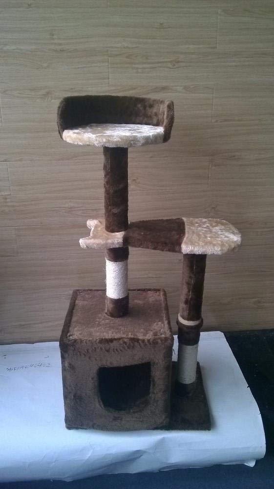 Deluxe Multi Cat Tower Cat Play Towers Cat Climbing Pet Supplies 50  40  108cm Plush