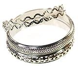 Metallic Bracelet Wristband: Twisted Infinity