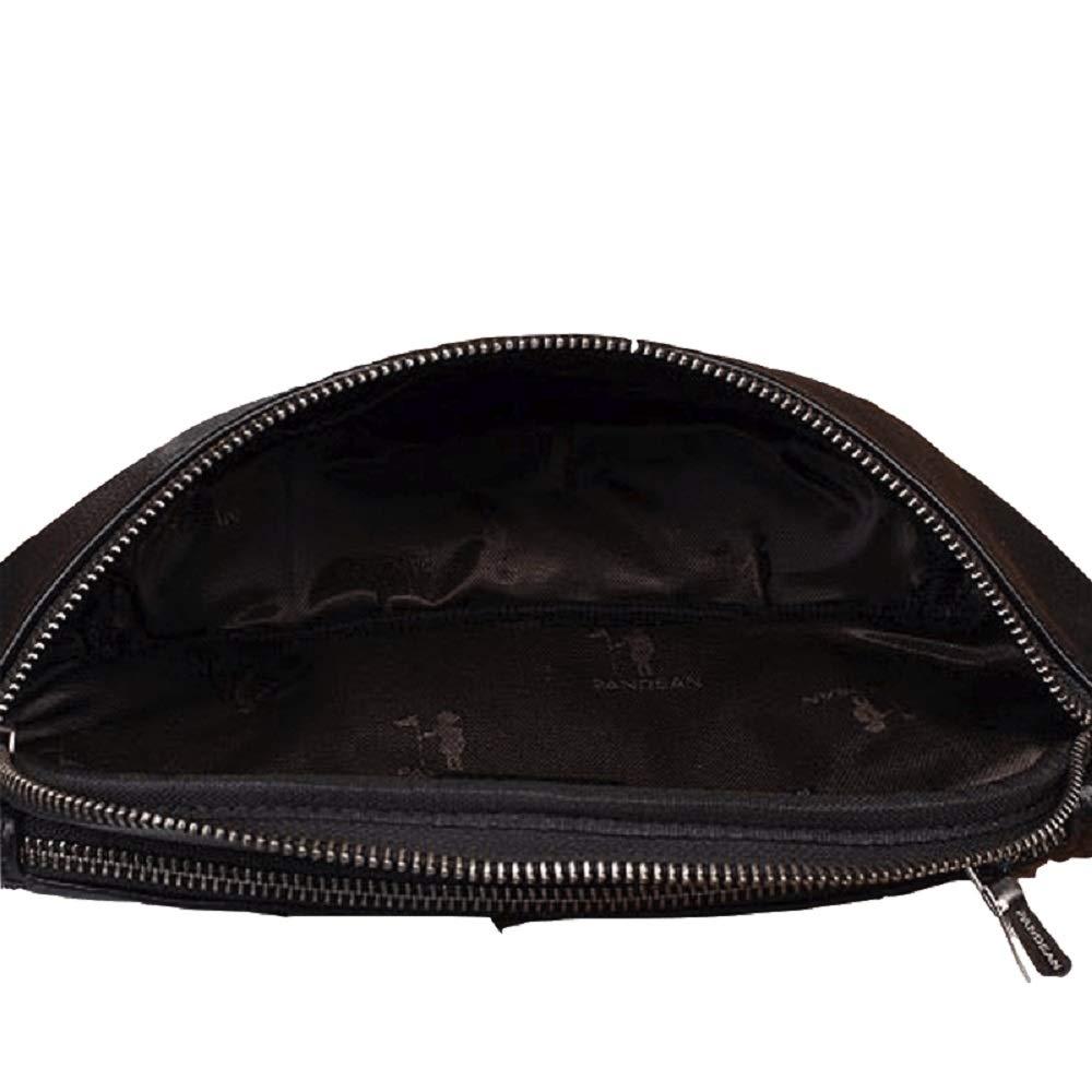HhGold Bauchtasche mit Verstellbarem Gürtel die Tasche gut auf der Taille Rutschen Nicht Beim Joggen oder Anderen Sport (Farbe : Schwarz)
